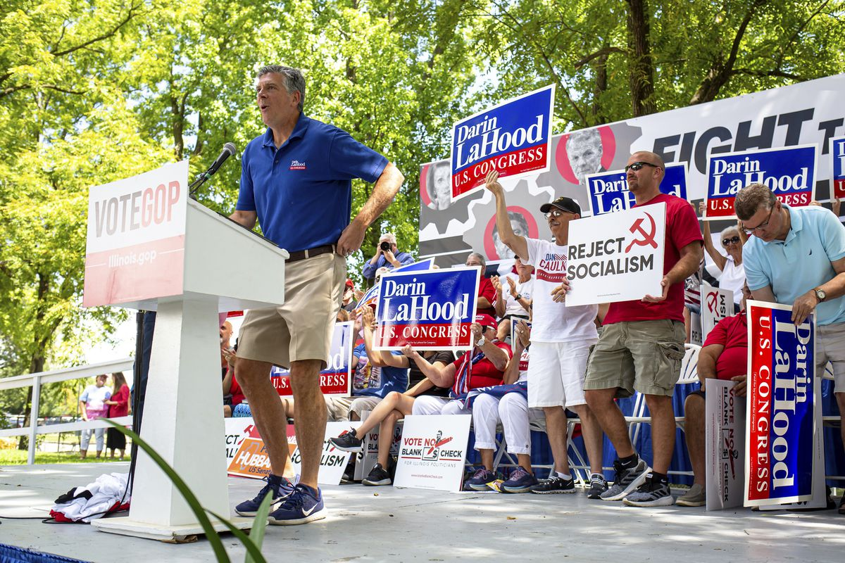 Rep. Darin LaHood, R-Ill.,at Republican Day at the Illinois State Fair in Springfield last year.