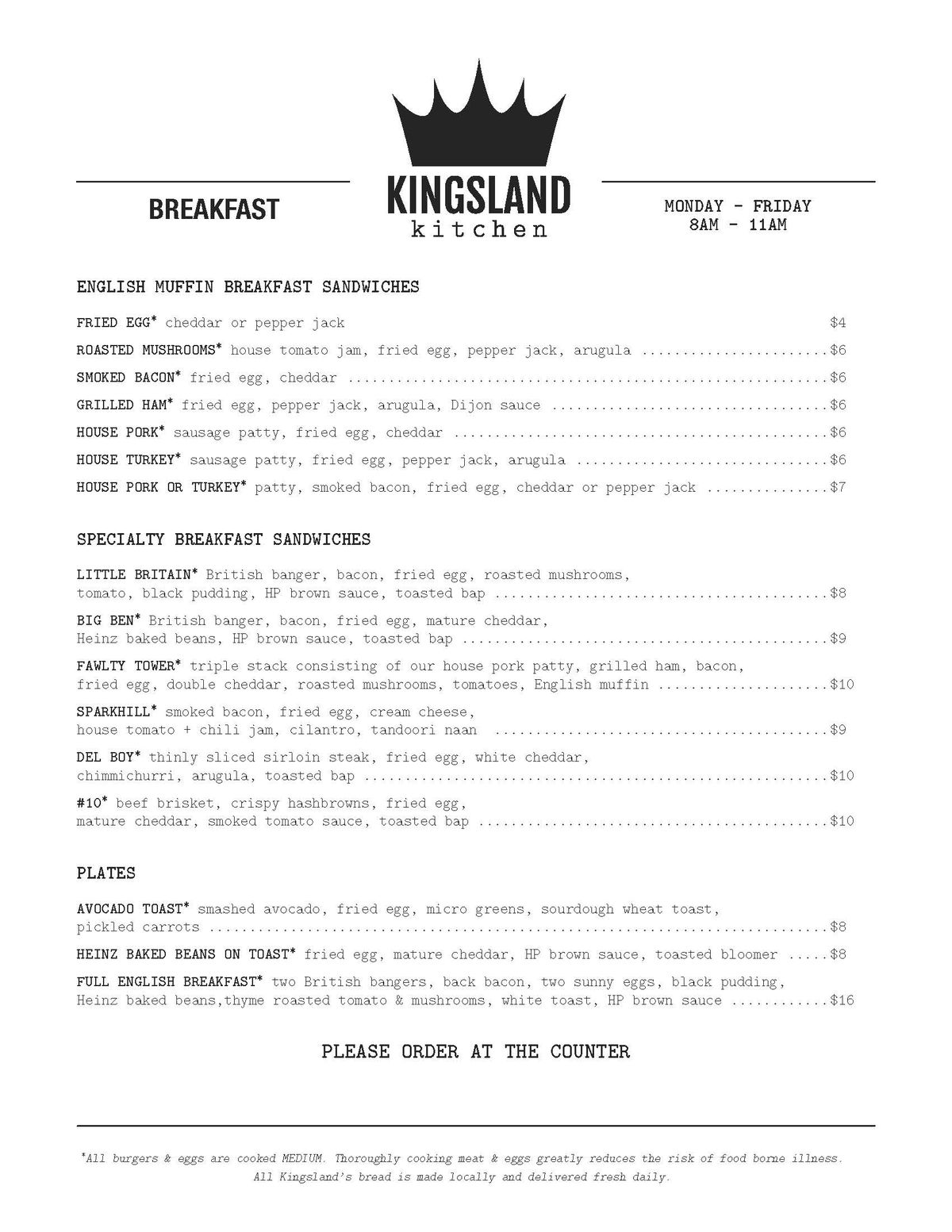 Kingsland Kitchen Finally Reveals Menus of Inspired British Plates ...