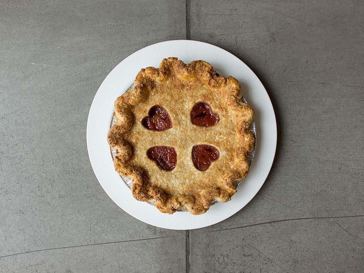 Rustique's strawberry rhubarb pie