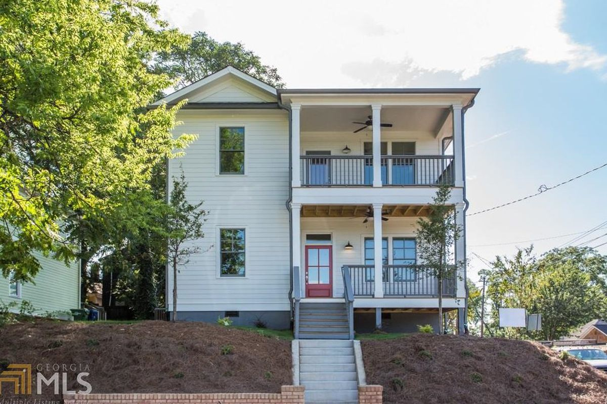 A new two-story home at the edge of Grant Park in Atlanta.