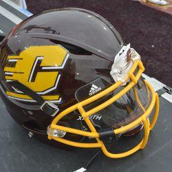A view of Daniel Richardson's Xenith helmet.