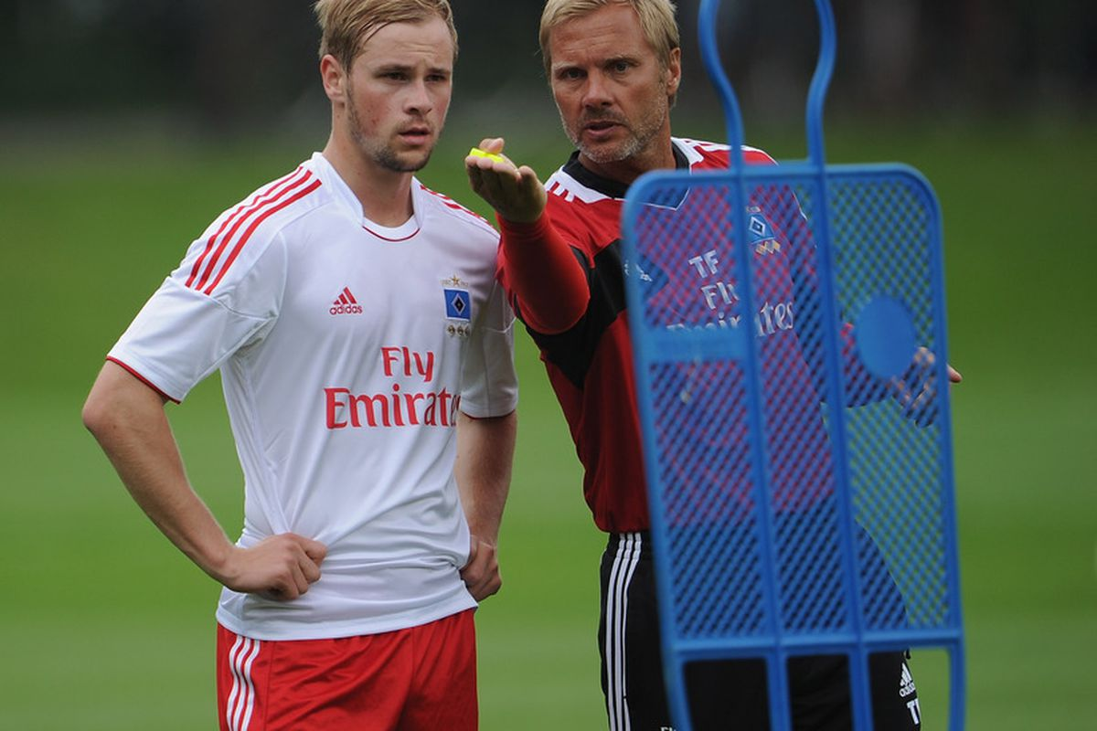 Thorsten Fink issues orders to his troops as Hamburg prepare themselves for this summer's Peace Cup. However, what sort of test can they provide to SAFC?
