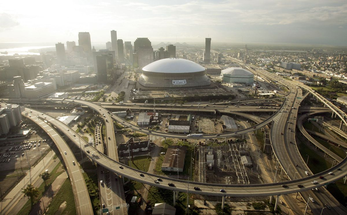 New Orleans, one year after Hurricane Katrina.