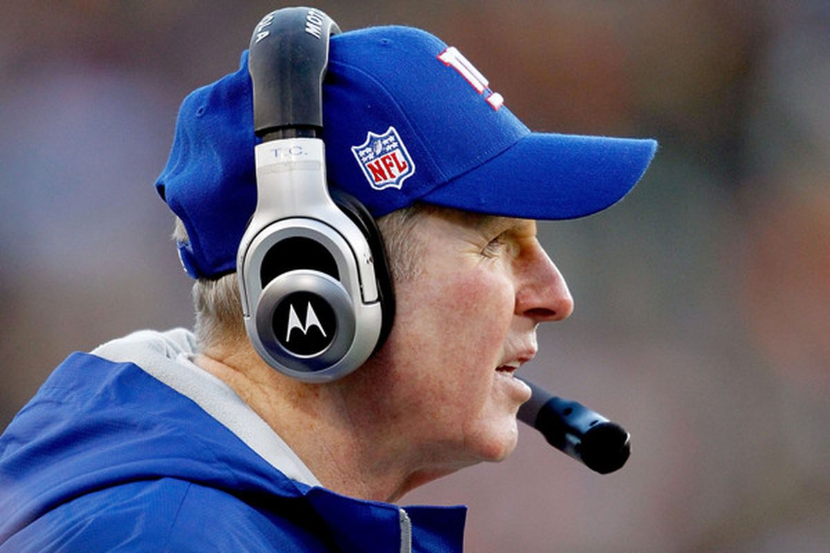 New York Giants head coach <strong>Tom Coughlin</strong>.  (Photo by Matthew Stockman/Getty Images)