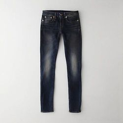 The Black Marble skinny jean, $345, has a dark-black wash with faded detail and a low-rise fit.