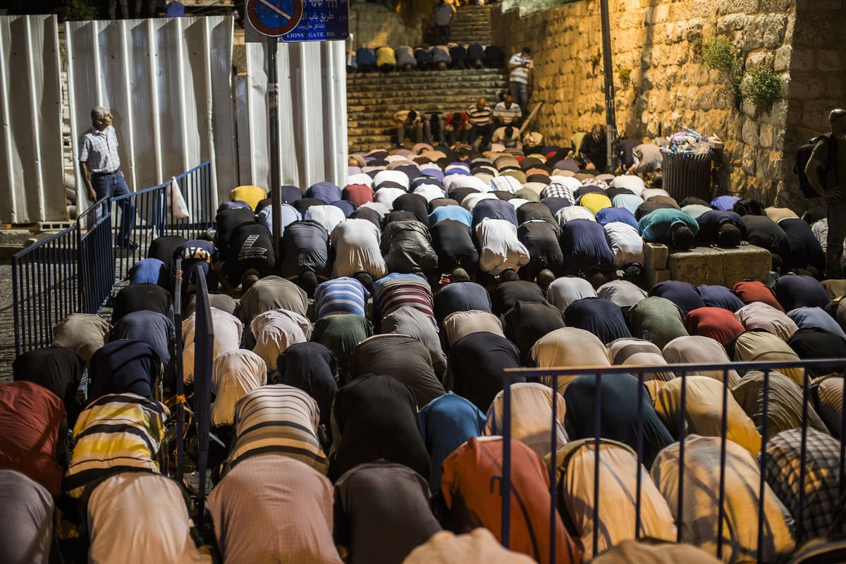 Clashes Break Out During Noon Prayer Outside Al Aqsa Mosque In Jerusalem