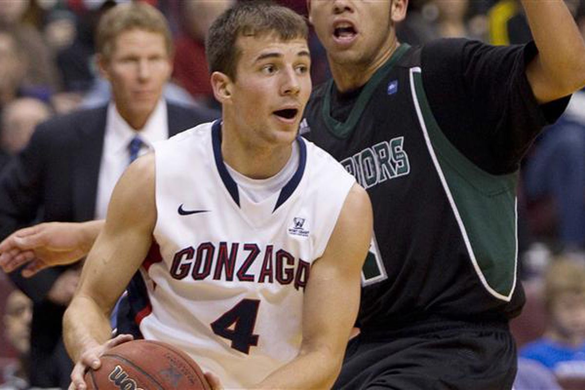 Kevin Pangos had a huge week that led to not only two Zags wins but also a conference player of the week honors as well as being named our player of the week.  (Jonathan Haywood, AP Photo/Canadian Press)