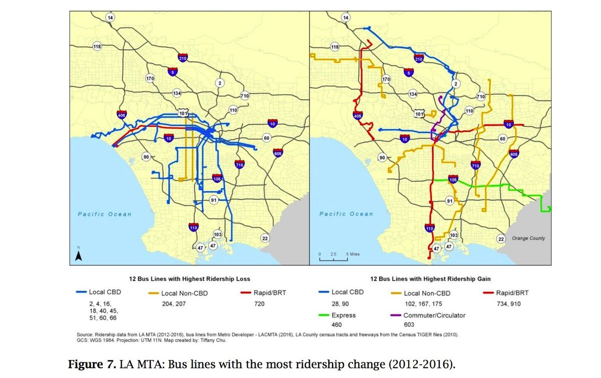 Transit ridership is down because LA keeps buying cars, report says
