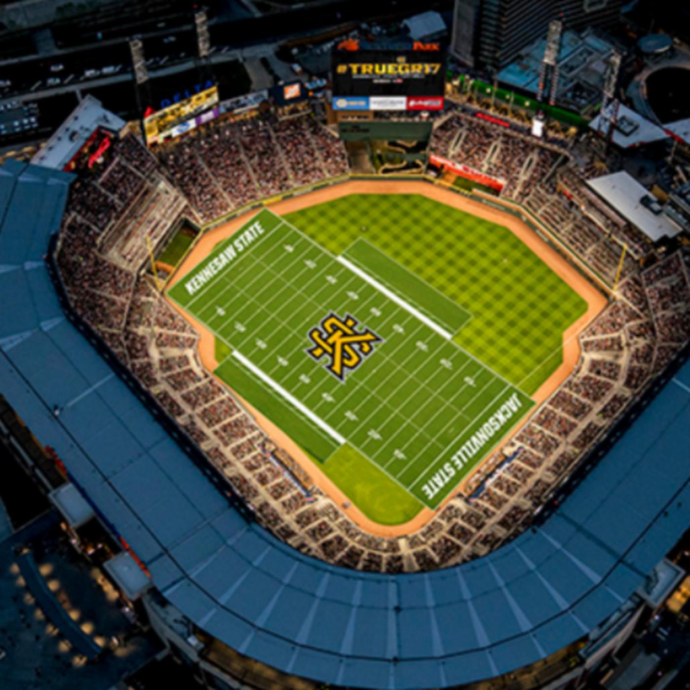 newest 216f0 ed977 The Atlanta Braves' stadium will host a college football ...