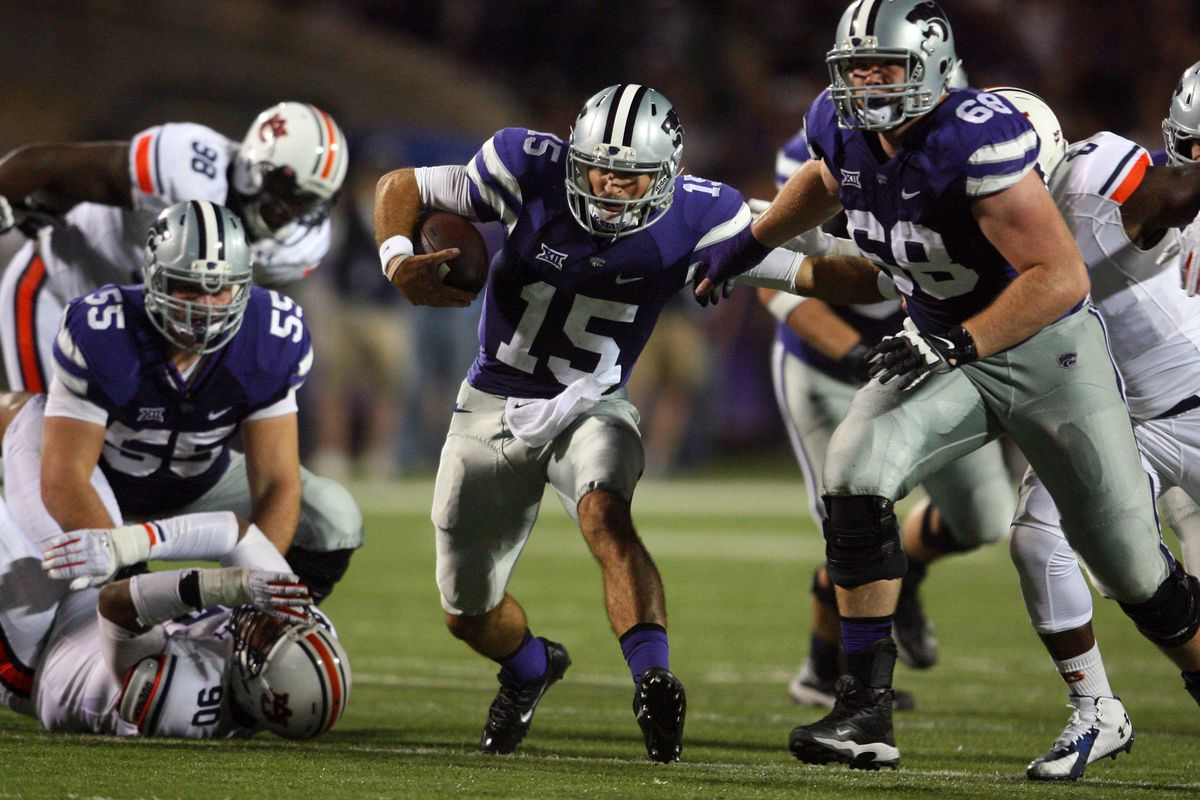 Luke Hayes (68) is one of four returning starting offensive linemen for K-State in 2015. Here's hoping for big things in the rushing game in his senior year.