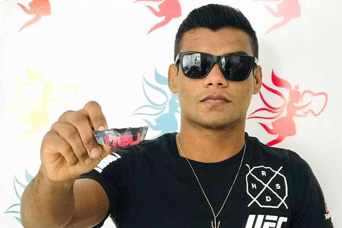 Raulian Paiva will wear a special mouthpiece for his debut at UFC 234.