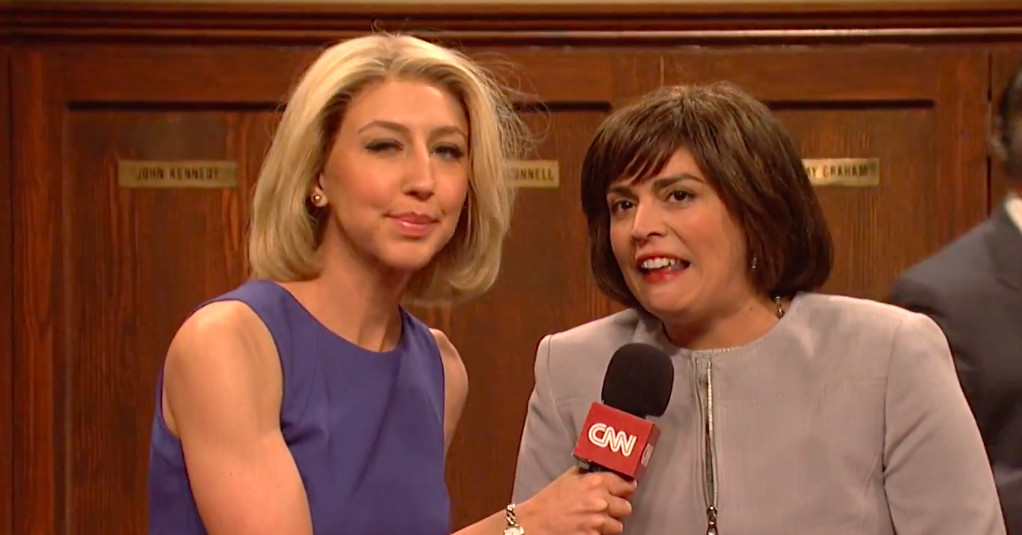 Watch: on SNL, Republicans party over Kavanaugh?s confirmation in the GOP locker room