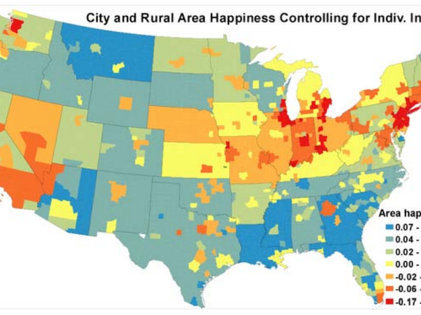 Picture of: Map The Happiest Places In America Vox