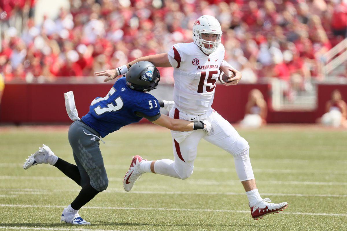 NCAA Football: Eastern Illinois at Arkansas