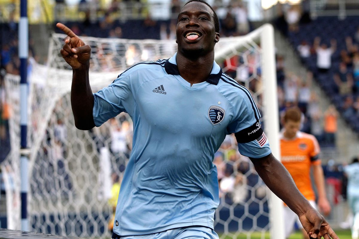 Sporting KC rookie C.J. Sapong, along with newcomers like Mauro Rosales, and Luke Rodgers, have made 2011 a huge success for Major League Soccer.(Photo by Jamie Squire/Getty Images)