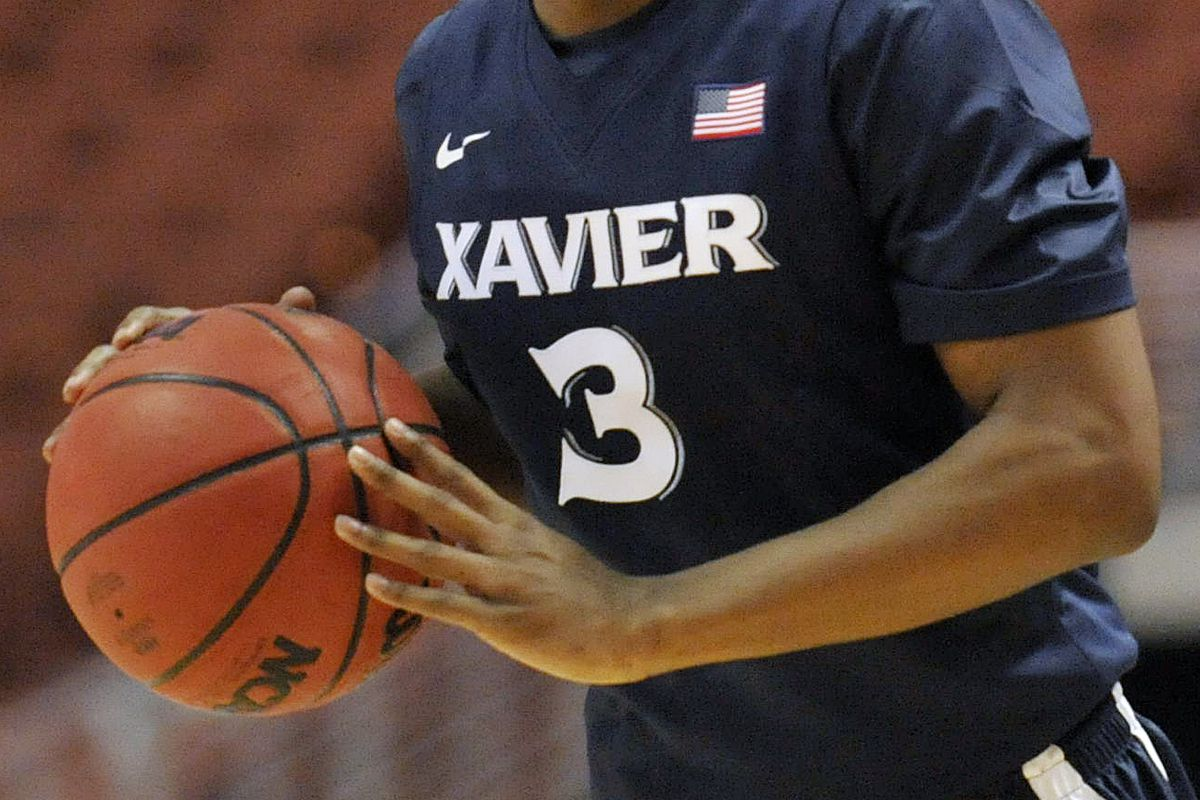 This was about the only Xavier three you saw out there today.