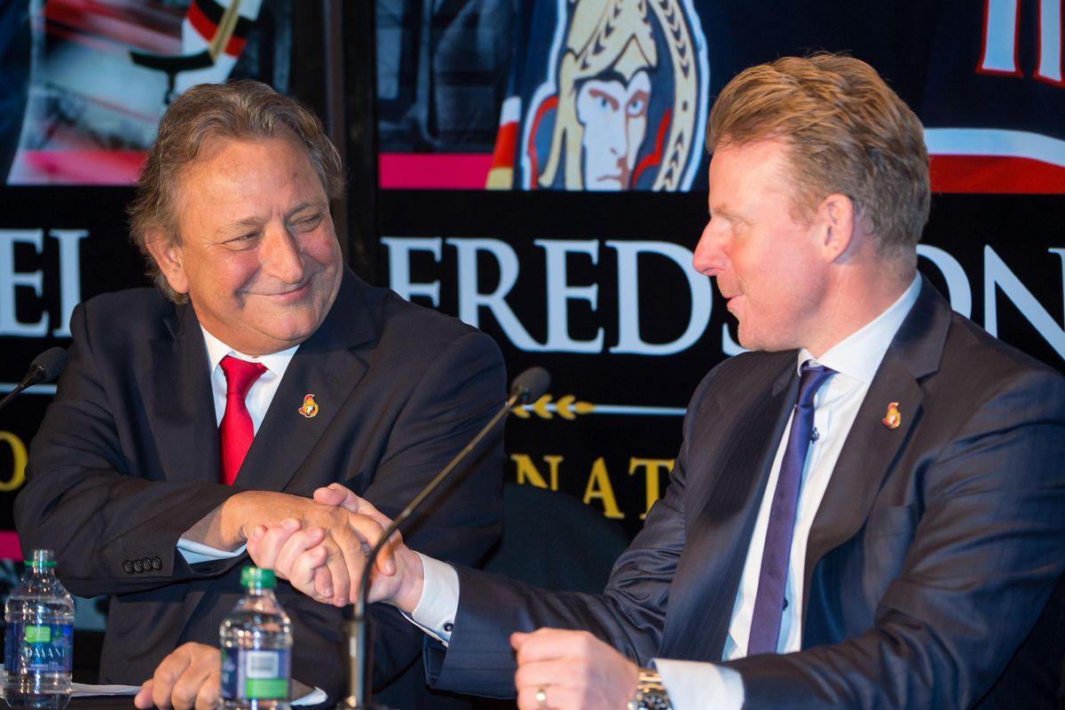 NHL: Daniel Alfredsson Retirement Press Conference