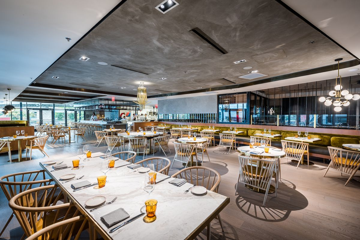 The menu at officina s new second story restaurant is