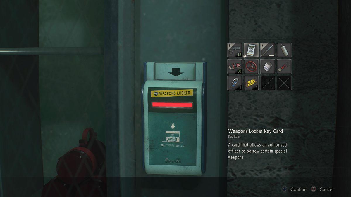 Resident Evil 2 Weapons Locker key card GM 79 Grenade Launcher