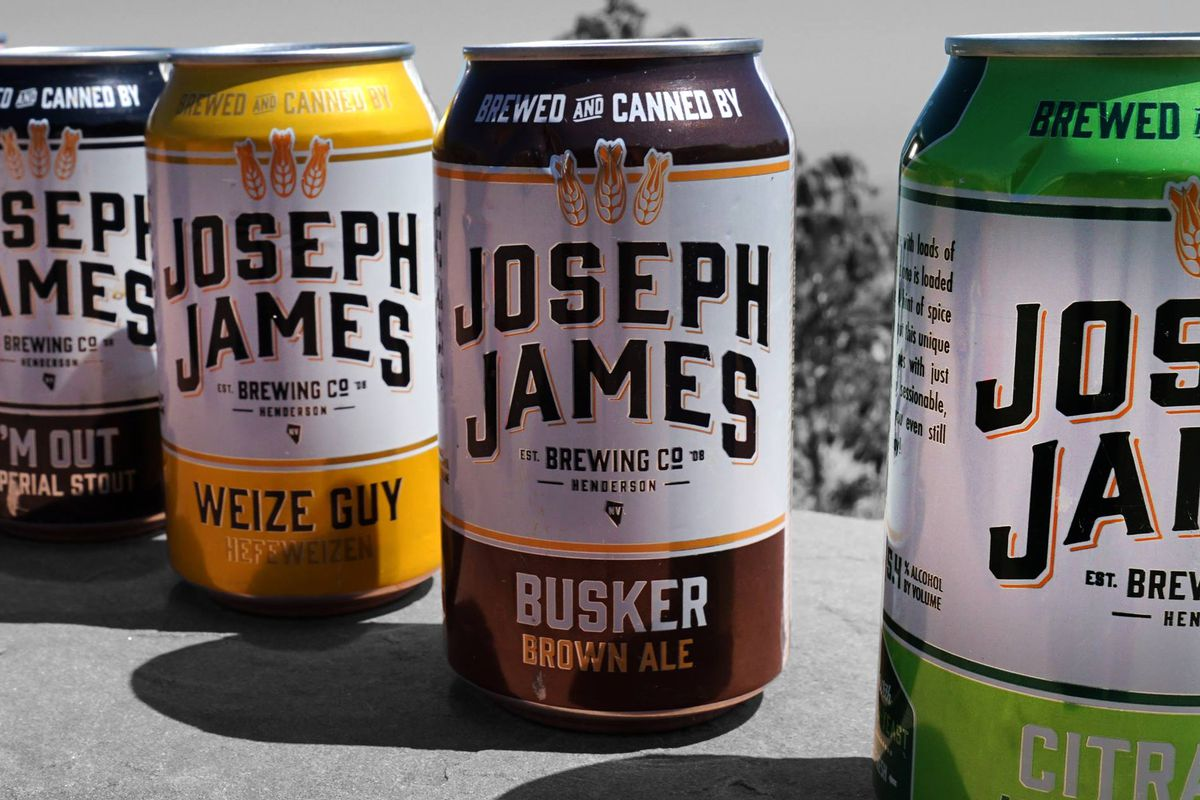 Four cans of Joseph James beer