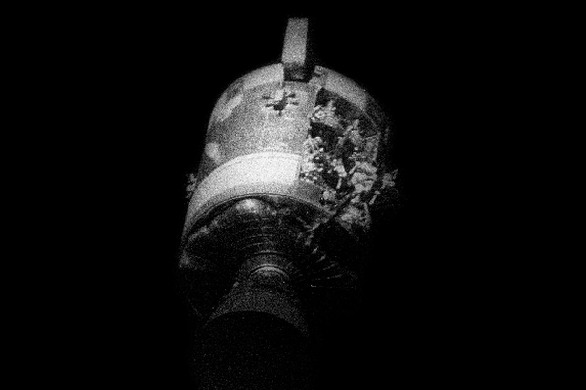 Apollo 13 Service Module after explosion of oxygen tank #2