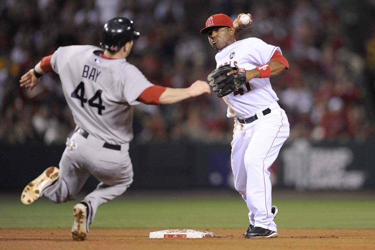 Boston Red Sox v Los Angeles Angels of Anaheim, Game 1
