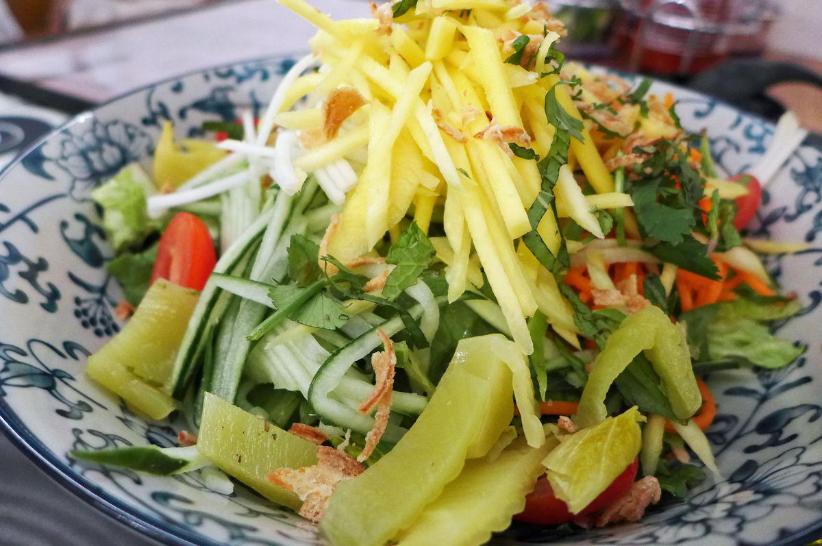 Papaya and mango salad