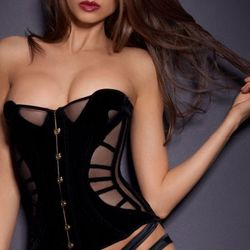 """<b>Agent Provacatuer</b> Ivana Corset, <a href=""""http://www.agentprovocateur.com/autumn-winter-2012-gallery/ivana/info/ivana-corset"""">$990</a>. Because let's face it: How are you planning on spending your night on Thursday, the 20th (and maybe all day Frida"""