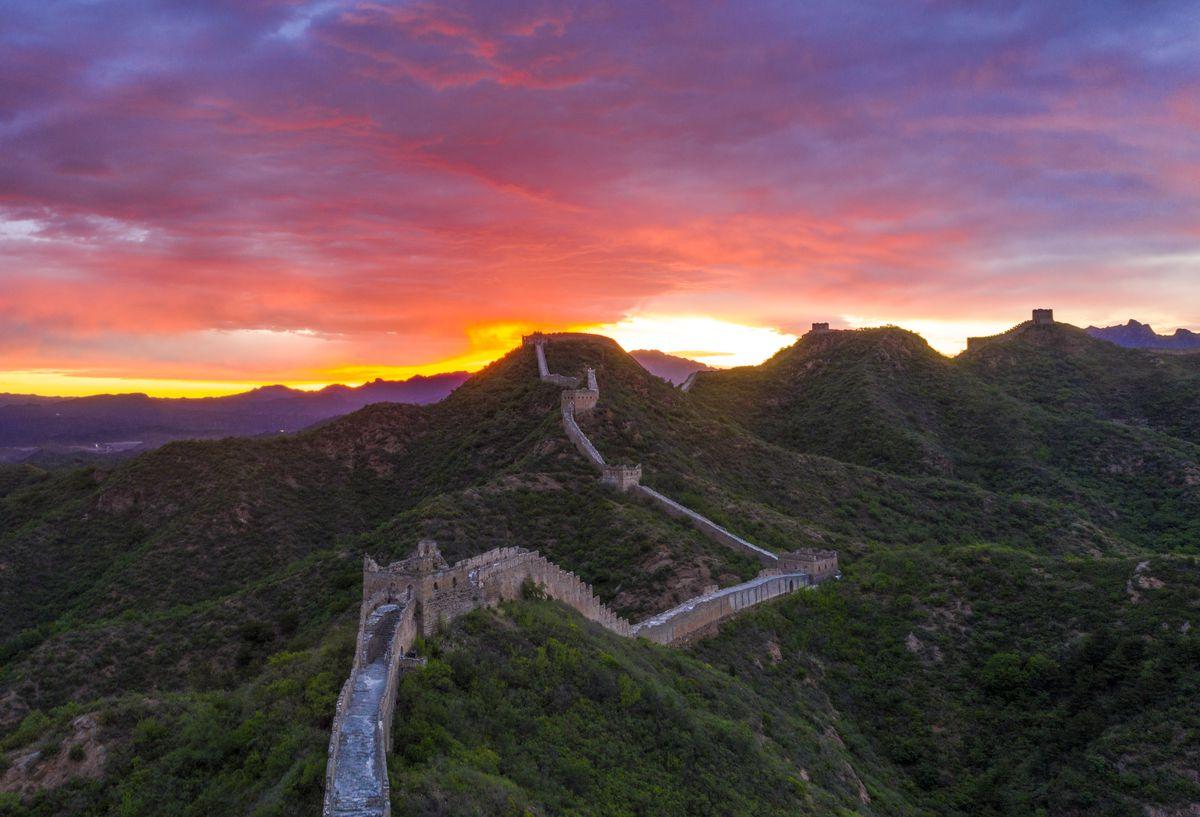 Jinshanling Great Wall At Sunrise