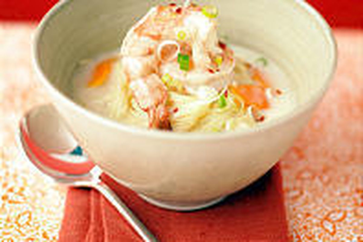 This tasty Coconut Shrimp Soup requires only about a<BR>   half-hour to prepare and is nutritionally well-rounded.
