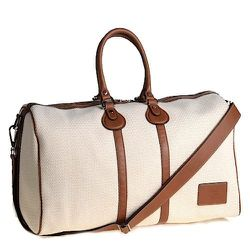 """<strong>Fairchild Baldwin</strong> Bobby Duffle in Natural/Brown <a href=""""http://fivestoryny.com"""">$895</a> at FIVESTORY"""