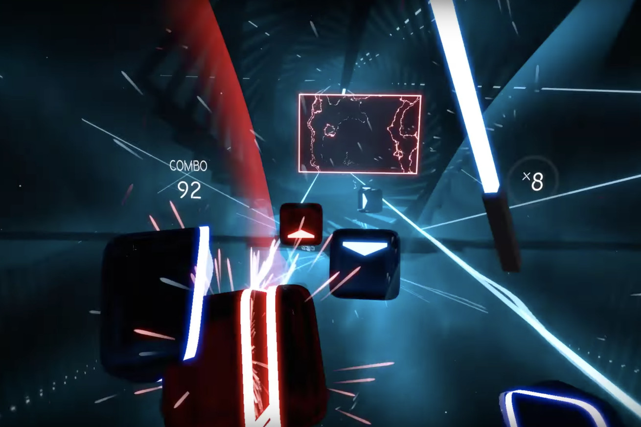 beat saber is the neon soaked vr star wars guitar hero mashup you didn t know you needed