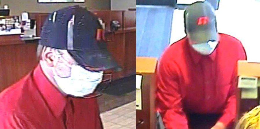 Surveillance photos of the suspect who robbed a Bank of America branch at 506 S. Schmale Rd. in Carol Stream on Aug. 23.   FBI