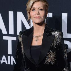 Jane Fonda at Saint Laurent.  Photo: C. Flanigan/Getty Images