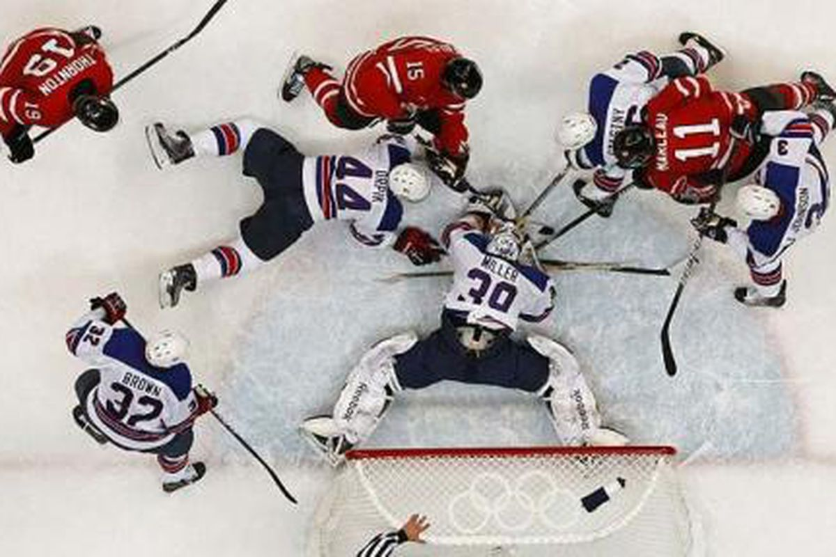 Ryan Miller suffers yet another bout of narcolepsy while playing goal for Team USA.