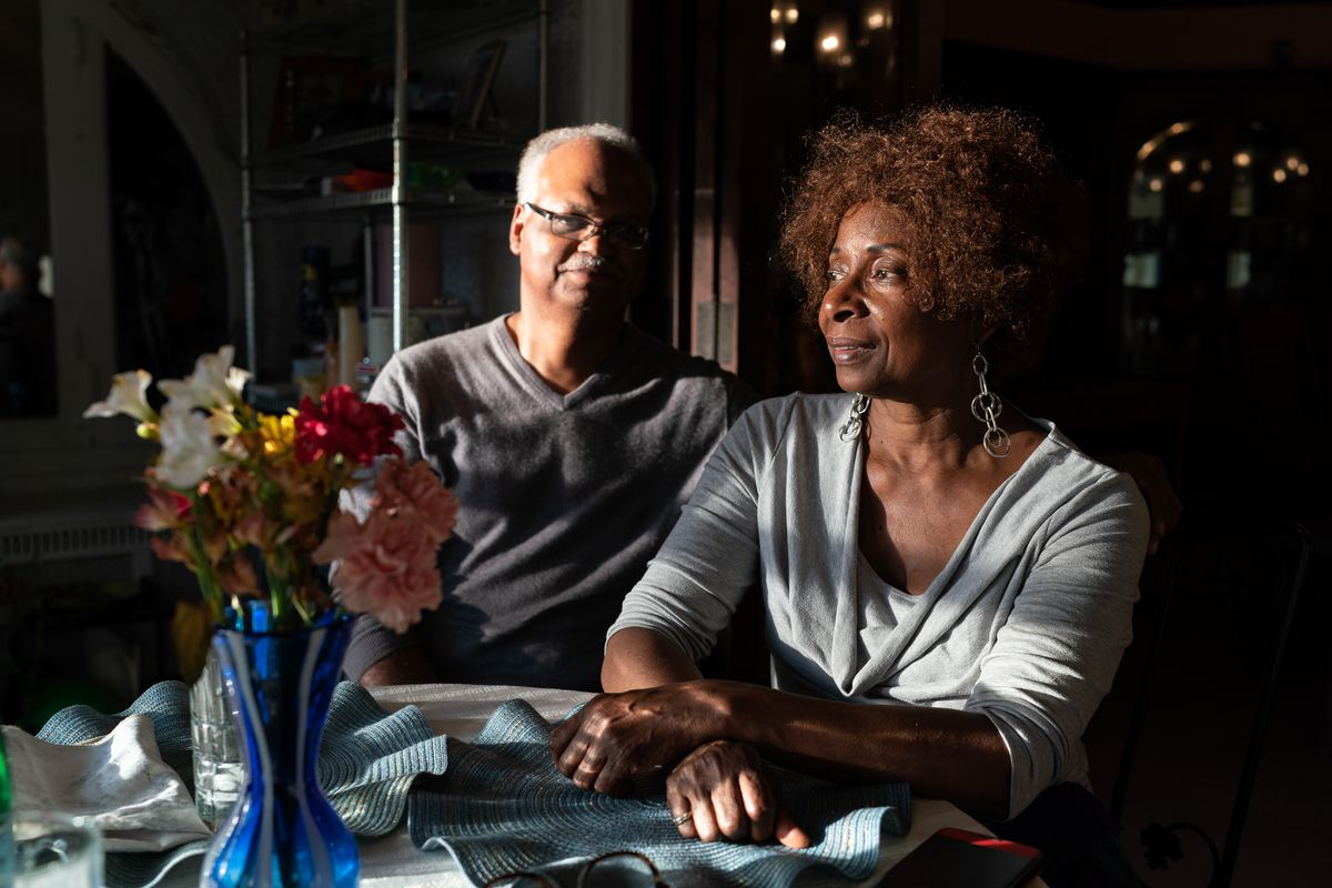 Ron and Serethea Reid are photographed at the dinner table in their Austin home on May 30, 2019. | Max Herman/For the Sun-Times