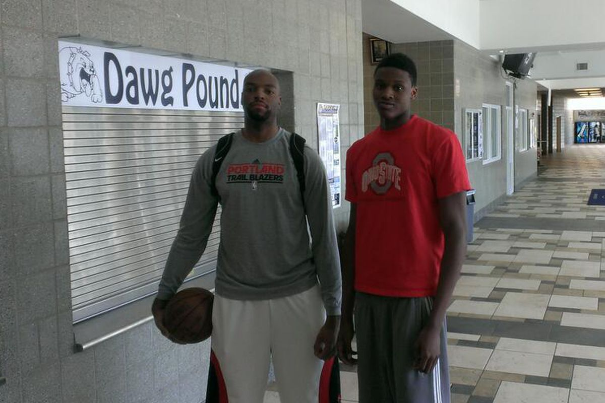 Dave Bell (Right) showed why he is one of the top prospects in Ohio on Friday.