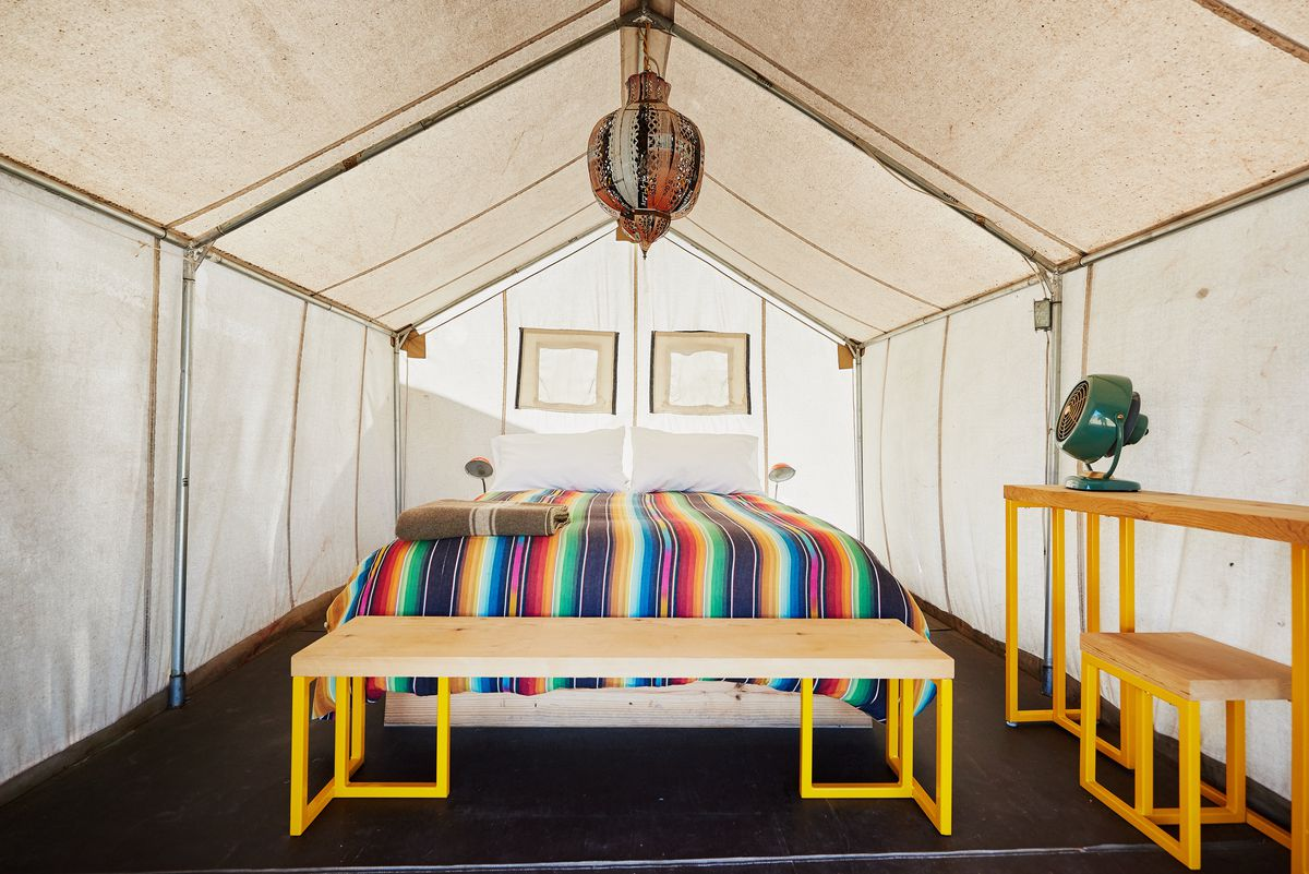 The Interior Of A Glamping Tent At El Cosmico Photo By Nick Simonite Courtesy Comisco
