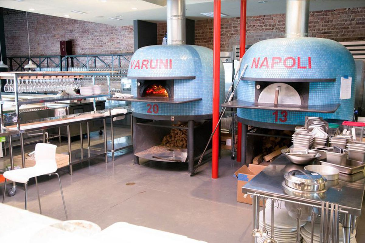 Pizza ovens at the original Varuni Napoli