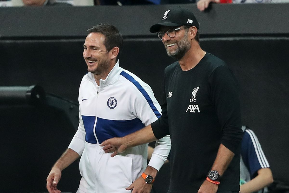 Frank Lampard and Jurgen Klopp - Liverpool v Chelsea: Premier League