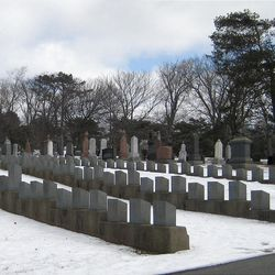 This Feb. 29, 2012 photo shows rows of tombstones at the Fairview Lawn Cemetery in Halifax, Nova Scotia, Canada. One hundred years ago, ships from this old port city on the Atlantic set out to recover the Titanic's dead. They brought back more than 330 bodies; 150 are buried in three Halifax cemeteries. (AP Photo/Robert Gillies)