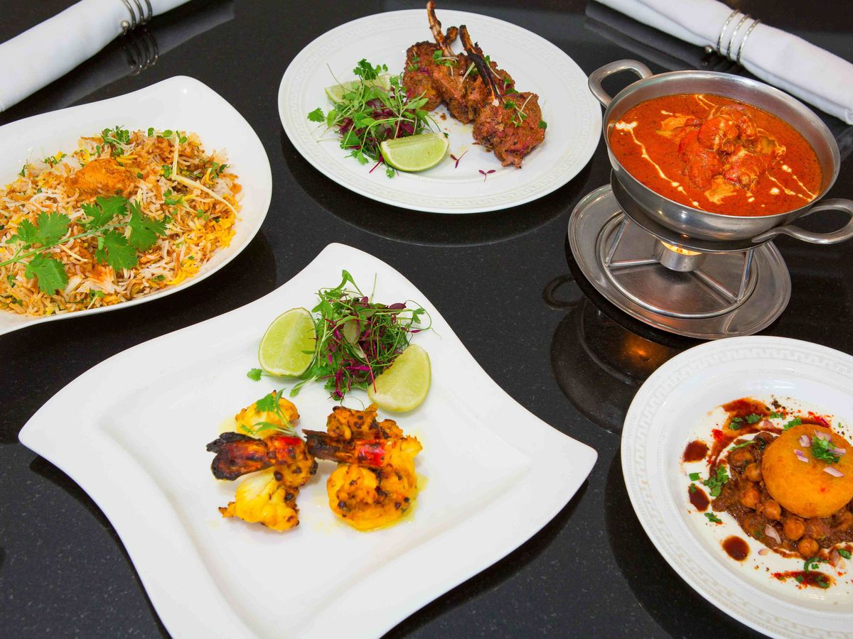 A range of dishes at Madhu's, one of the best north Indian restaurants in London