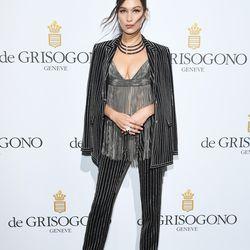 Bella Hadid in Givenchy at the De Grisogono party.