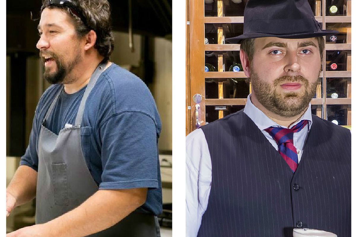 Chef Randy Rucker(l) and consultant Eoghan Dillman (r) are no longer working on Bramble together.