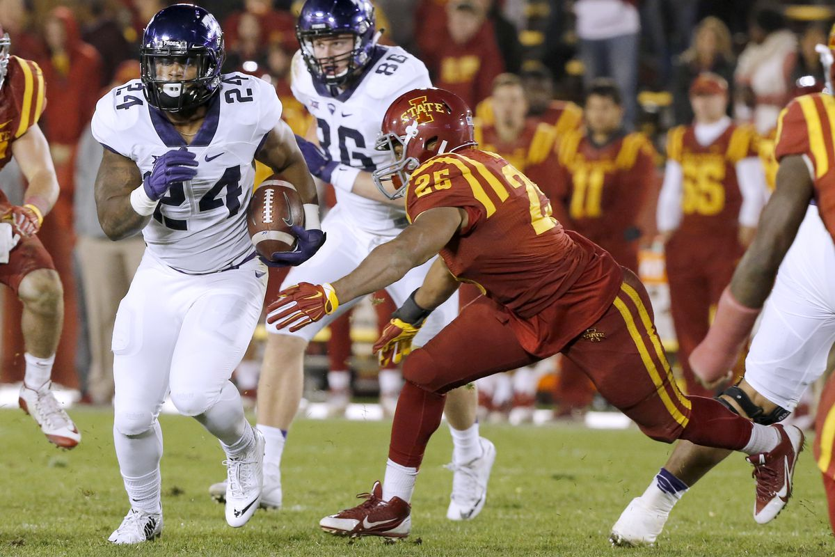 Trevorris Johnson give the Cyclones a taste of thier own medicine with some power running