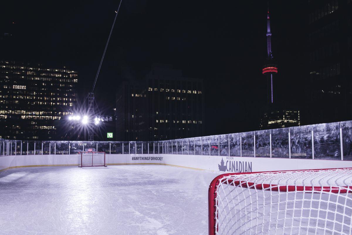 Molson Canadian #AnythingForHockey Rooftop Rink captured by Toronto Photographer Adeyemi Adegbesan @soteeoh
