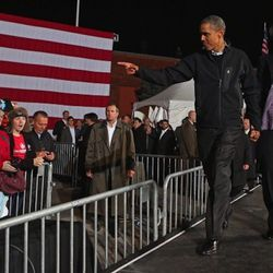 Final Presidential rally in Des Moines, Iowa on November 5, 2012