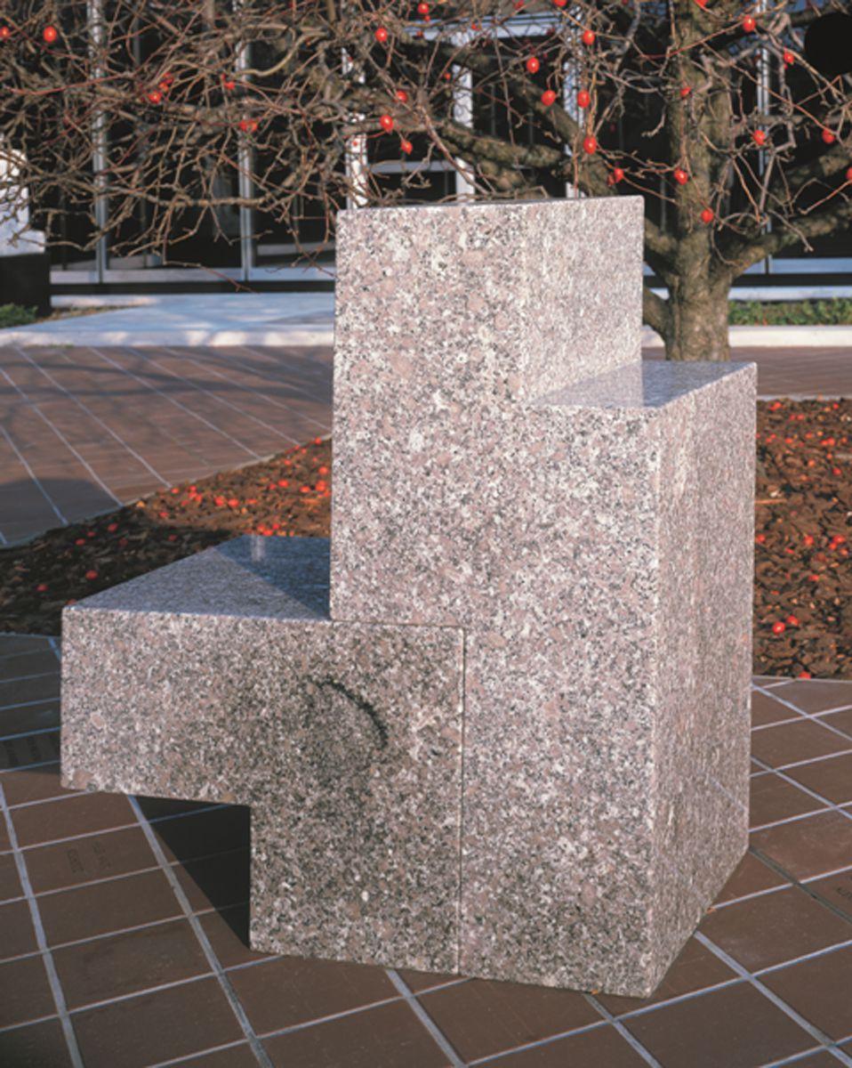 "Scott Burton, ""Two-Part Chair, 1986"" Deer Island granite. | © 2014 Estate of Scott Burton/Artists Rights Society (ARS), New York"