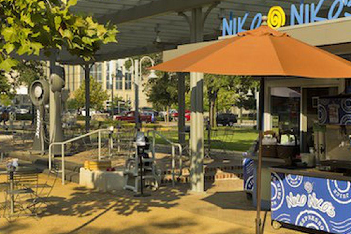 Niko Niko's in Market Square Park downtown.