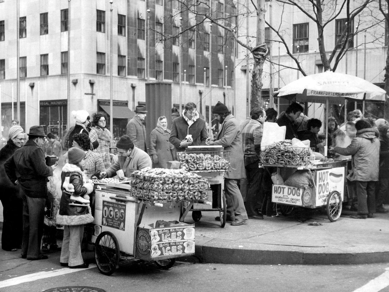 Old street vendors in New York City